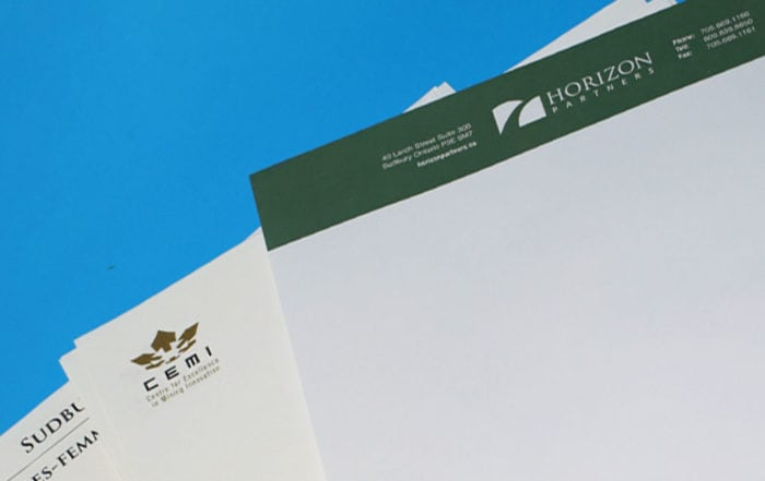 Featured image of letterheads printed at Duplicators