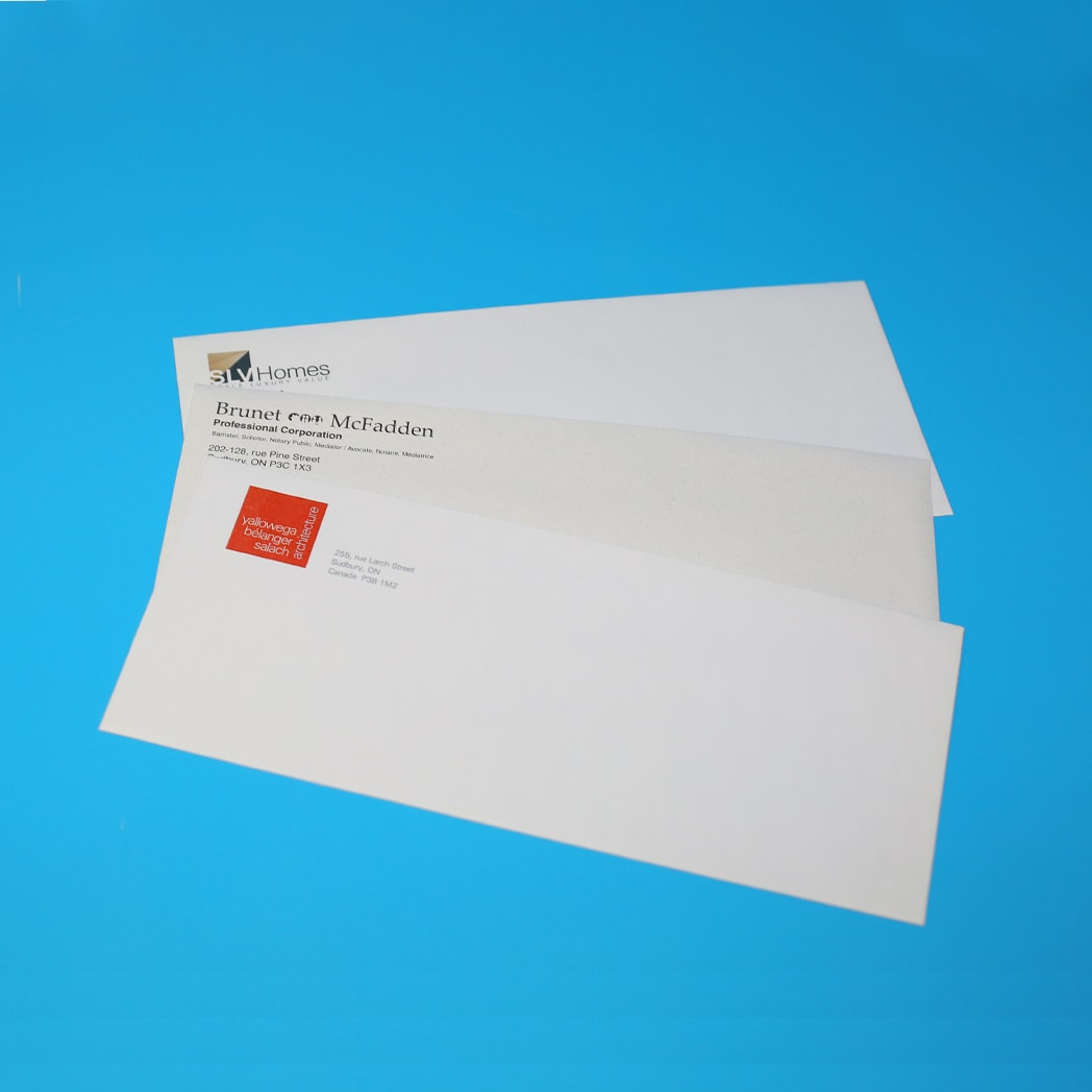 Image of envelopes printed at Duplicators
